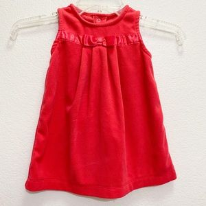 Carter's girl fleece red dress with a bow 18 m